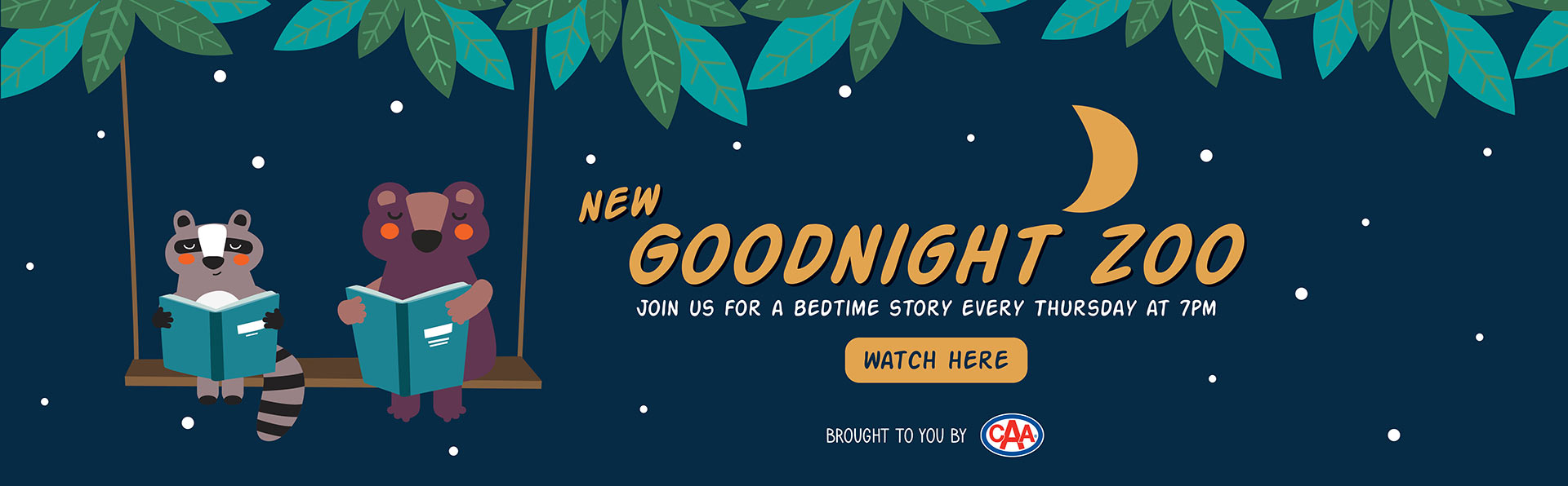 Goodnight Zoo join us for a bedtime story every Thursday at 7pm
