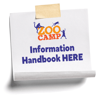 Button: links to Zoo Camp information handbook