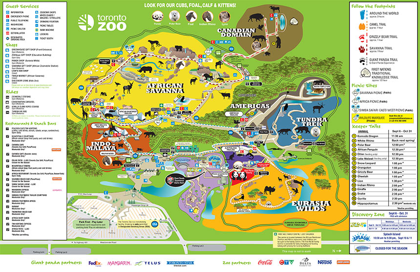 Toronto Zoo  Toronto Zoo Map
