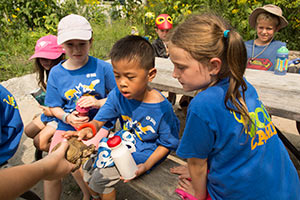 Zoo Camp kids at the Toronto Zoo